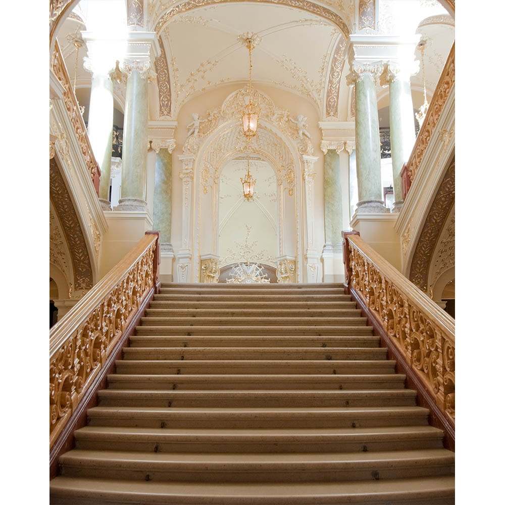 Exceptionnel Victorian Staircase Printed Backdrop