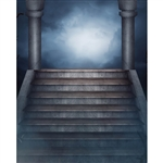 Mausoleum Stairs Printed Backdrop