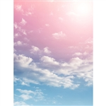 Cotton Candy Clouds Printed Backdrop