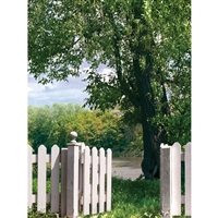 Fence and Gate Printed Backdrop
