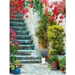 Villa Stairs Printed Backdrop