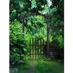 Garden Gate Printed Backdrop