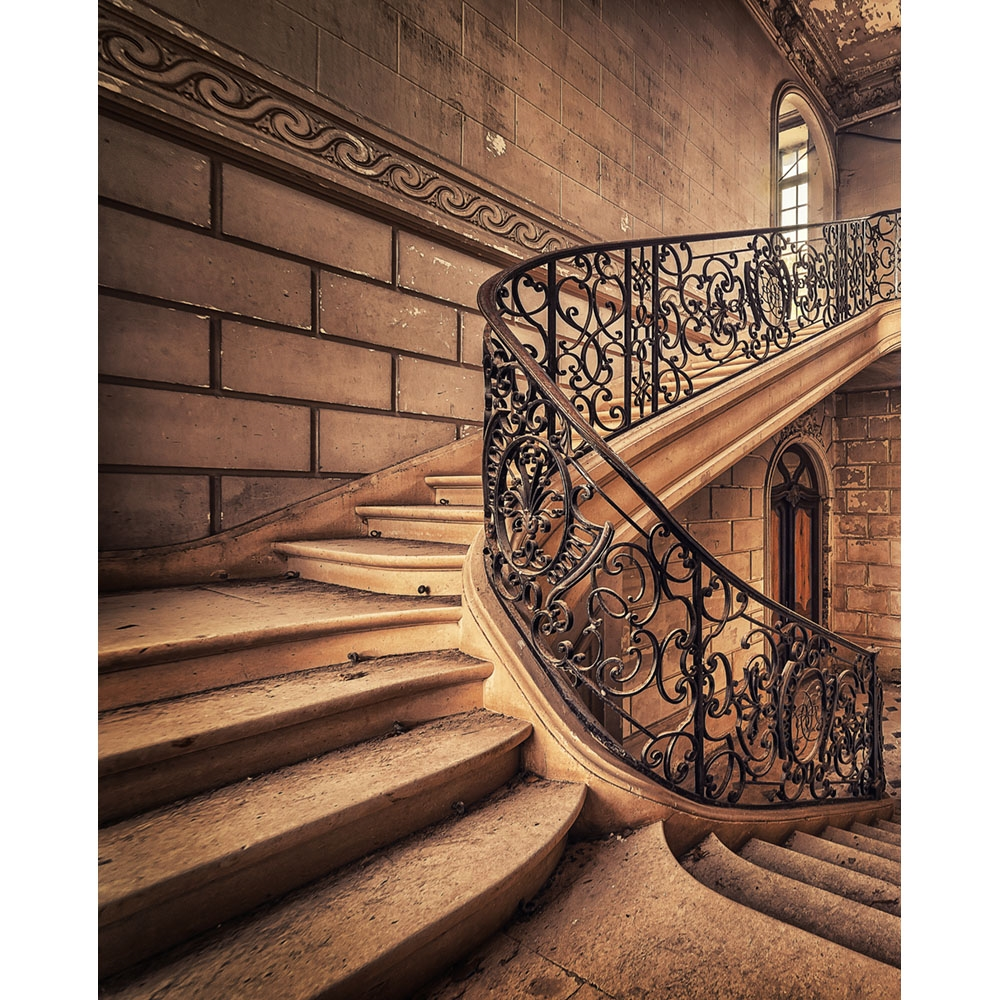 Ornate Stairway Printed Backdrop Backdrop Express