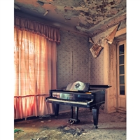 Piano Playroom Printed Backdrop