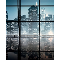 City Windows Printed Backdrop