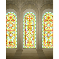 Stain Glass Windows Printed Backdrop
