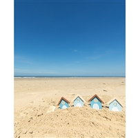 Beach Houses Printed Backdrop