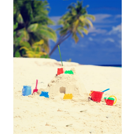 Sandcastle Island Printed Backdrop