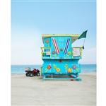 Lifeguard Tower Printed Backdrop