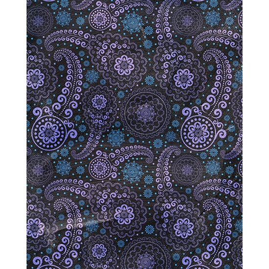 Blue Paisley Chalkboard Printed Backdrop