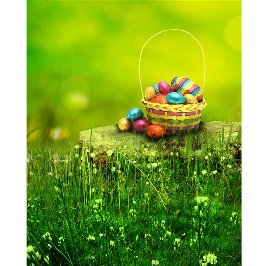 Easter Basket Printed Backdrop