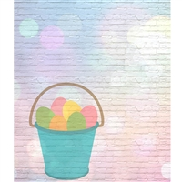 Easter Egg Bucket Printed Backdrop