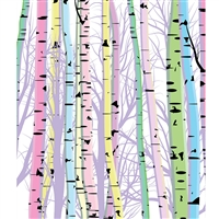 Pastel Birch Trees Printed Backdrop