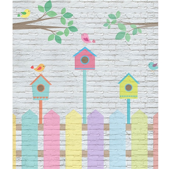 Spring Fence Printed Backdrop
