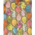 Decorated Easter Eggs Printed Backdrop