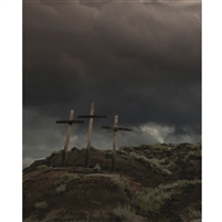 Wooden Crosses on a Hill