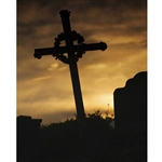 Memorial Cross Printed Backdrop