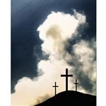 Three Crosses of Calvary Printed Backdrop