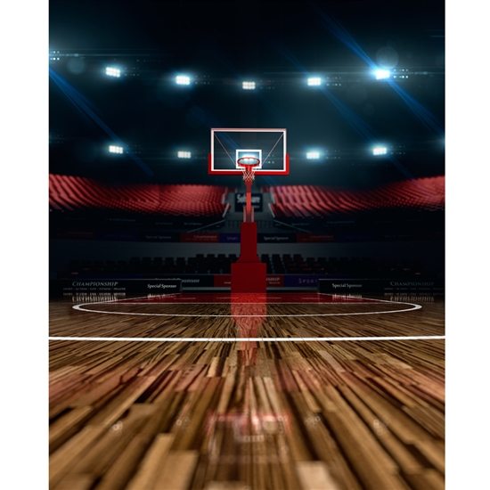 Basketball Court Printed Backdrop Backdrop Express