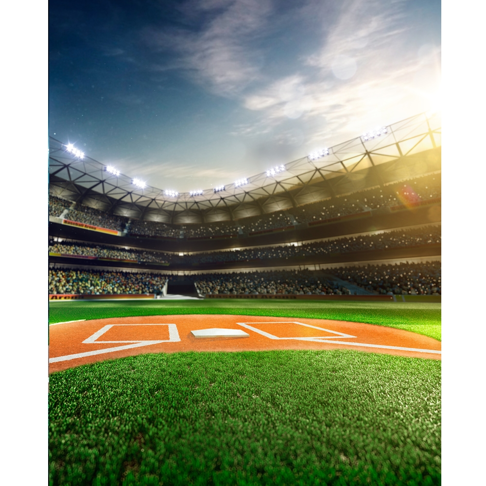 baseball field printed backdrop backdrop express