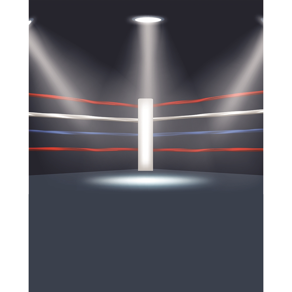 Boxing Ring Printed Backdrop Backdrop Express