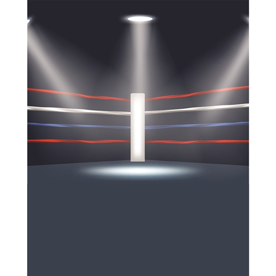 Boxing Ring Printed Backdrop