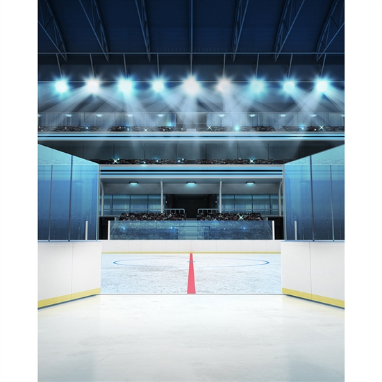 Rink Entrance Printed Backdrop