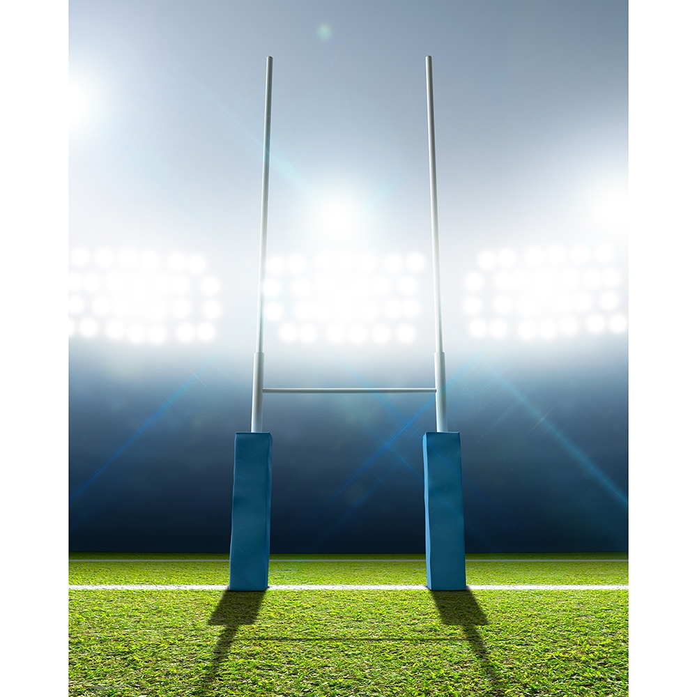 Rugby Post Printed Backdrop Backdrop Express