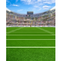 Bokeh Football Field Printed Backdrop
