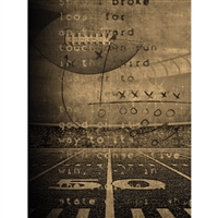 Vintage Football Printed Backdrop