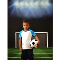 Soccer Goal Backdrop - Poly Paper - 5ft (w) x 6ft (h)