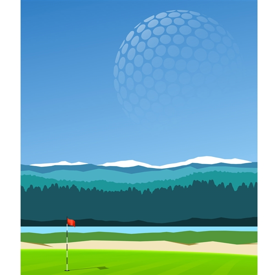 Hole in One Printed Backdrop