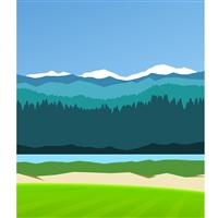 Mountain Range Printed Backdrop