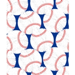 Red, White & Blue Baseball Printed Backdrop