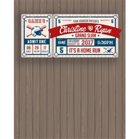 Home Run Announcement Printed Backdrop