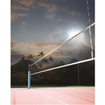 Volleyball At Sunset Printed Backdrop