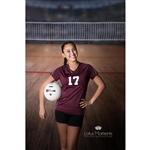 Volleyball Arena Printed Backdrop