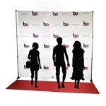 10ft x 10ft Step & Repeat Red Carpet Fabric Backdrop Kit
