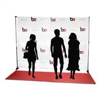 10ft x 8ft Step & Repeat Red Carpet Fabric Backdrop Kit
