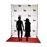 8ft x 10ft Step & Repeat Red Carpet Backdrop Kit