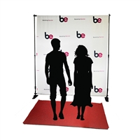 6ft x 8ft Step & Repeat Red Carpet Fabric Backdrop Kit
