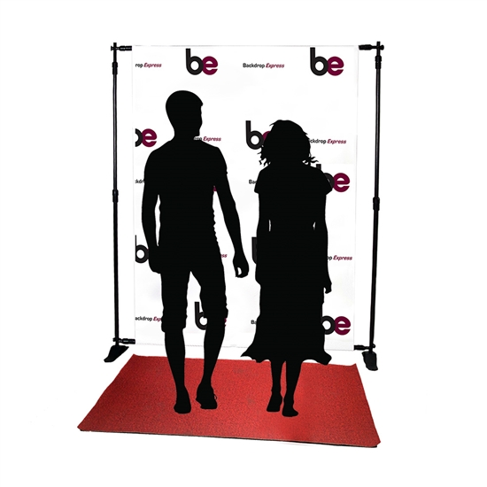 5ft x 7ft Step & Repeat Red Carpet Vinyl Backdrop Kit