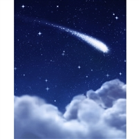 Shooting Star Printed Backdrop