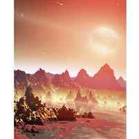 Alien Planet Printed Backdrop