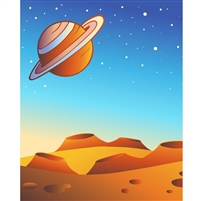 Red Planet Printed Backdrop
