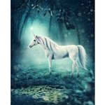 Mystical Unicorn Printed Backdrop