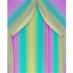 Rainbow Curtain Printed Backdrop