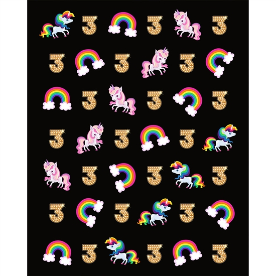 Unicorns & Rainbows Birthday Printed Backdrop
