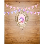 Vintage Unicorn Custom Birthday Printed Backdrop