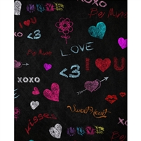 Sweetheart Chalkboard Printed Backdrop